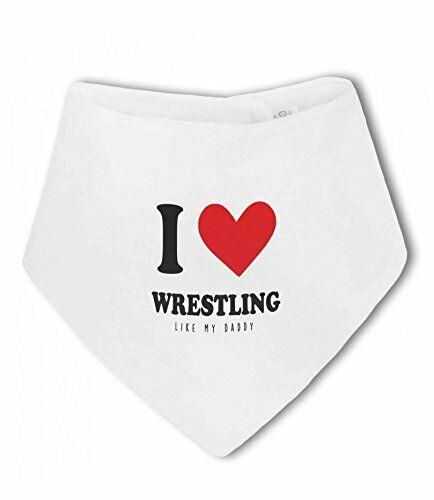 Baby Bandana Bib by BWW Print Ltd I Love Wrestling like Daddy