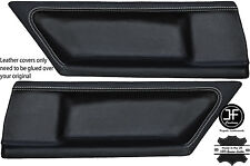 WHITE STITCH 2X REAR DOOR CARD LEATHER COVERS FITS BMW E36 COUPE 91-98 STYLE 2