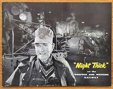 O WINSTON LINK - NIGHT TRICK - 1957 1ST EDITION - FINE COPY