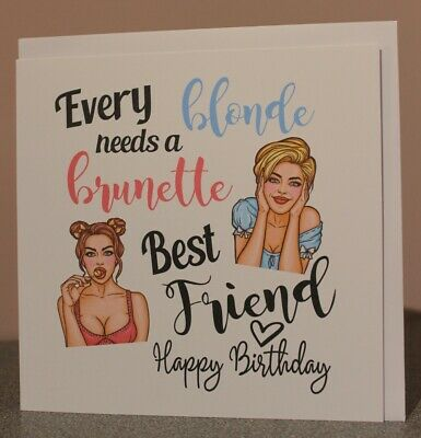Super Best Friend Card Happy Birthday Card Every Blonde Needs A Personalised Birthday Cards Bromeletsinfo