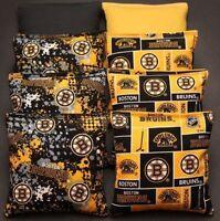 8 All Weather Cornhole Bags Made W Boston Bruins Fabric Resin Waterproof Nhl