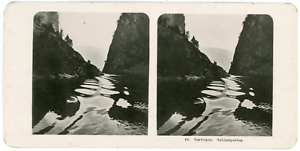 Stereo-Neue-Photographische-Gesellschaft-A-G-Norwegen-Suldalsporten-Vintage