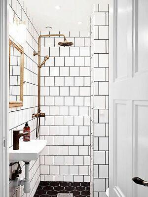 6x6 White Glossy Ceramic Subway Tile