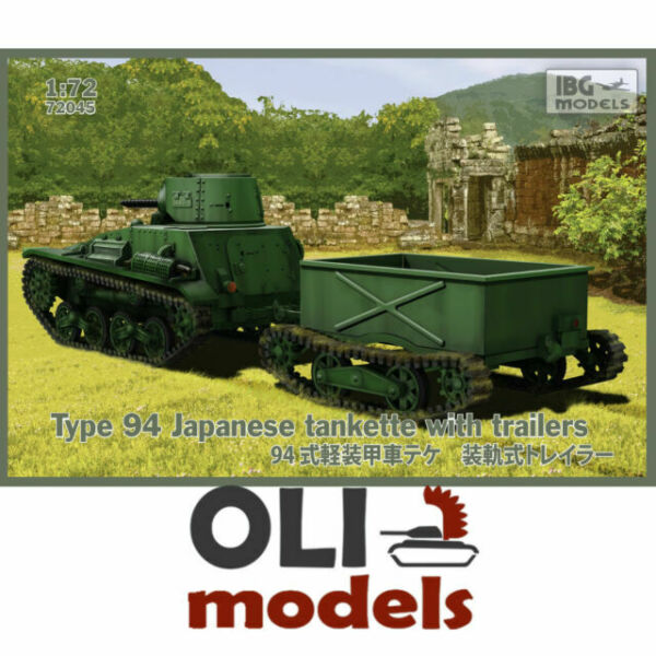IBG Models 1//72 Type 94 TK Japanese Tankette With 37mm