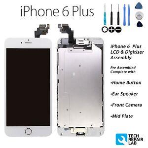 Iphone-6-Plus-De-Pantalla-Tactil-LCD-Y-DIGITALIZADOR-RETINA-Completo-Montaje-De-Piezas-Con-Blanco