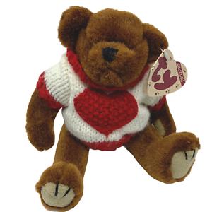 TY Beanie Baby Attic Treasure Collection Casanova Bear Heart Sweater 1993 NWT