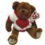 thumbnail 1 - TY Beanie Baby Attic Treasure Collection Casanova Bear Heart Sweater 1993 NWT