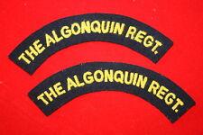 WW2 CANADA ALGONQUIN REGIMENT CANADIAN CLOTH SHOULDER TITLE PAIR