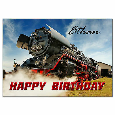 c265; Large Personalised Birthday card; Custom made for any name; Funny age joke