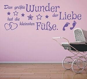 X455-Wandtattoo-Spruch-Kind-Kinder-Wunder-Liebe-Fuesse-Wandsticker-Wandaufkleber