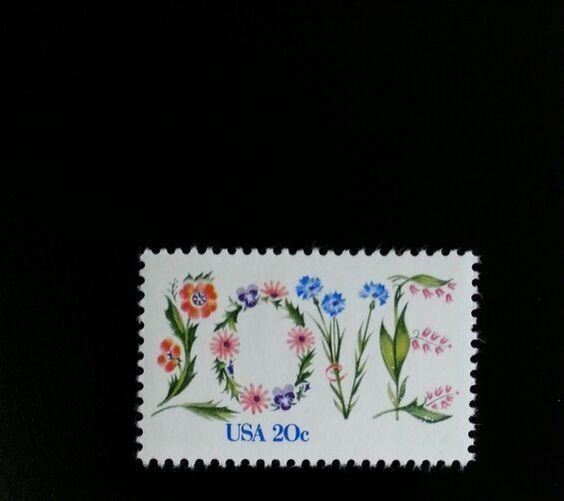 1982 20c Love, Flowers Scott 1951 Mint F/VF NH