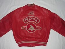 *LEE TREVOR LEDERJACKE*RETRO*ROCKABILLY HOT ROD*ROT*VINTAGE*TORSION*GR L*RARITÄT