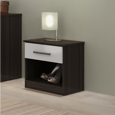 Bedroom Furniture Nightstands Various Colours Available Bedside Table 1 Drawer