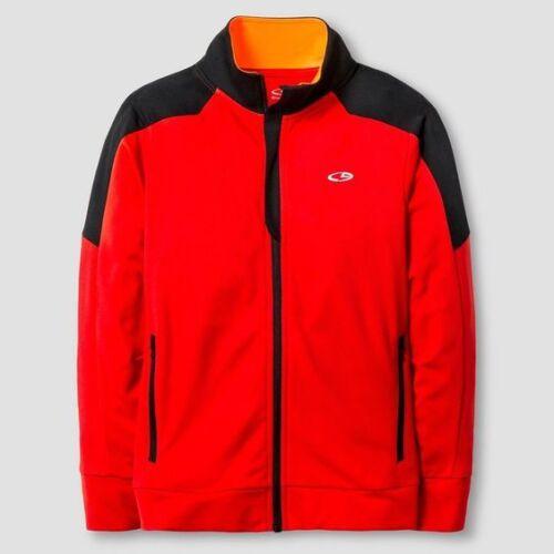 16-18 Champion C9 V9566 Boys Performance Full Zip Jacket XL Red /& Black NWT