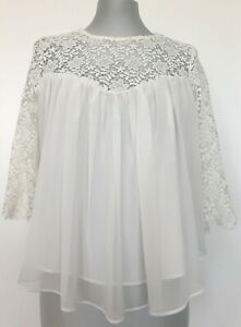 ZARA-TRAFALUC-WHITE-CROCHETED-BLOUSE-S