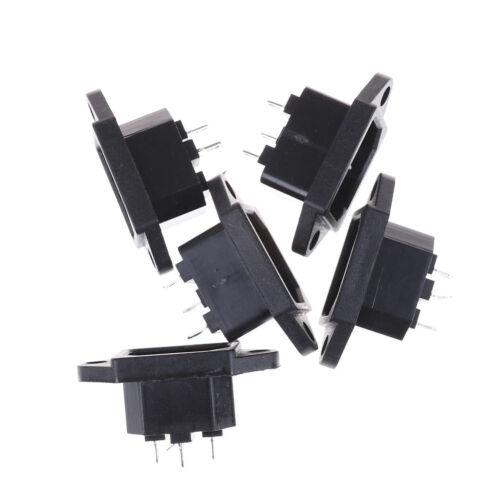 5Pcs 3P IEC 320 C14 Male Plug Panel Power Inlet Socket Connector AC 250V 10ASVV
