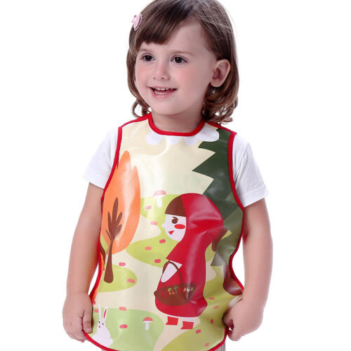 Kid Boy Girl TPU Feeding Cooking Baking Craft Apron Tabard Age 1//2//3//4//5//6
