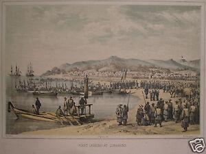 GERMAN-AMERICAN-HEINE-JAPAN-COMMODORE-PERRY-EXPEDITION-1856-GORAHAMA-LANDING