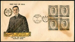 Philippine-1960-Honoring-the-Chief-Justice-JOSE-ABAD-SANTOS-FDC
