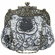 cbfcdabf3706d7 item 7 Women's Antique Beaded Party Clutch Vintage Rose Purse Evening  Handbag (Grey) -Women's Antique Beaded Party Clutch Vintage Rose Purse  Evening Handbag ...