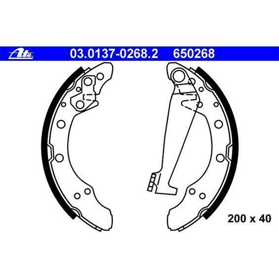 Bremsbackensatz für Bremsanlage Hinterachse ATE 03.0137-0268.2