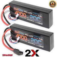 PowerHobby 2S 7.4V 4000mAh 20C Lipo Battery w 2 Pack : Traxxas Slash 2WD