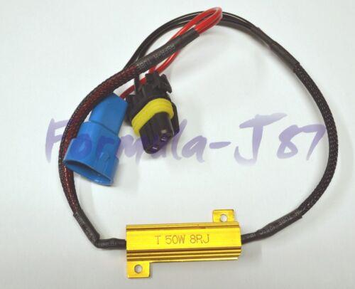 Wire LED Resistor Canceler Error Decoder 9005 HB3 Head Light High Beam Plug Bulb