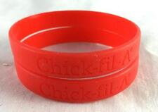 NEW Lot of 2 Red Chick-fil-A Wristband Bracelets