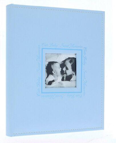 Blue Eco Cuero Autoadhesivo álbum de fotos 20 Hojas//40 lados Bebé Niño Regalo