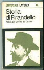 DE CASTRIS ARCANGELO STORIA DI PIRANDELLO LEONE LATERZA 1972 UNIVERSALE 174