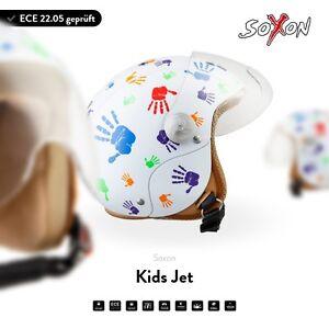 SOXON-SK-55-Kids-Color-Hands-Jet-Helm-Vespa-Roller-Motorradhelm-Kinder-ECE