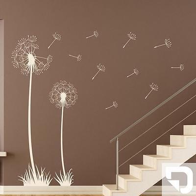 wandtattoo sommerliche pusteblumen deko mit fliegenden samen von designscape