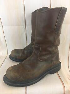 dc4d3deeb62bb Details about VTG RED WING PECOS 2231 Leather Cowboy Work Boots Steel Toe  Men's 7.5D US 40 EUR