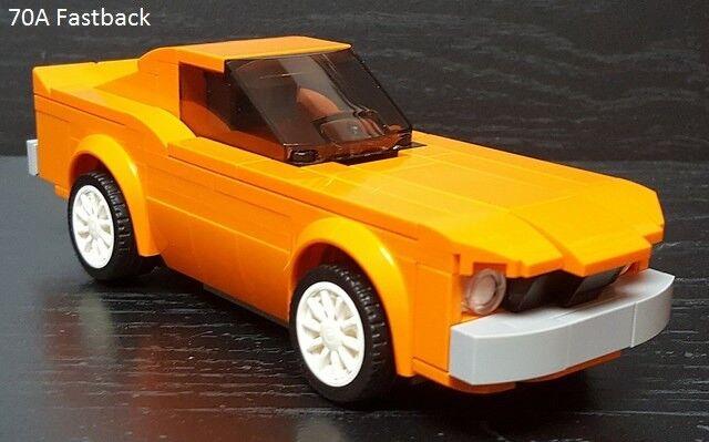 Lego Personalizado Coche Vehículo Moc 70 A Fastback-Ford Mustang velocidad Campeones