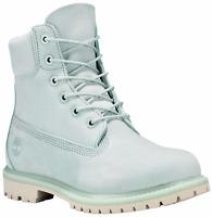 Timberland Women's Mint Green Premium 6 Inch Waterproof Boots Retail $170. A1bj9