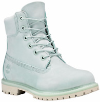 Timberland Women's Mint Green Premium 6 Inch Waterproof Boots Retail $170. A1bj9