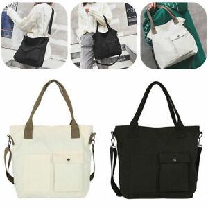 Women-039-s-Large-Travel-Shopping-Bag-Purse-Handbag-Ladies-Tote-Shoulder-Canvas-Bags