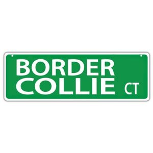 Plastic-Street-Signs-BORDER-COLLIE-COURT-Dogs-Gifts-Decorations
