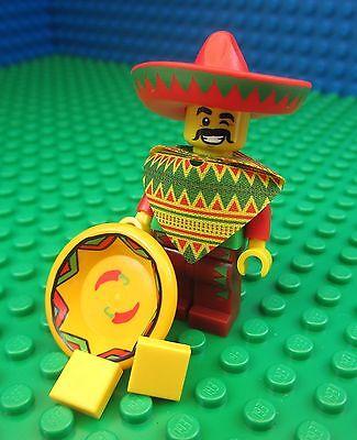 Lego MOVIE Taco Tuesday Man Guy City Town Sombrero Mexican Minifigure 71004
