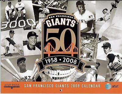 GroßZüGig San Francisco Giants Baseball Team At&t Park 2008 Kalender Zito Lincecum Cain Aromatischer Charakter Und Angenehmer Geschmack Sport Baseball & Softball