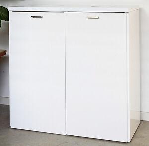 schrank f r w schesammler mit zwei ffnungen auf der oberseite weiss ebay. Black Bedroom Furniture Sets. Home Design Ideas