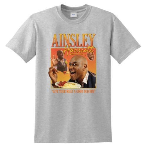 Ainsley Harriott Homage T-shirt Funny UK Gift Cook Meme Tribute UK TV 90/'s Icon