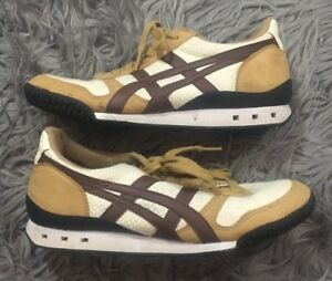 huge selection of 03e6e 332fd Details about Onitsuka Tiger Ultimate 81 Mens Athletic Shoes Size 6 D238N  Off White Brown Tan