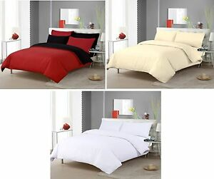 Image Is Loading Duvet Cover Plain Dyed Non Iron Bed Linen