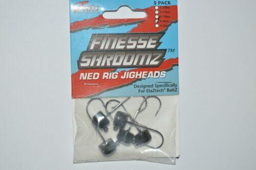3 packs zman finesse shroomz ned rig jigheads 1//6oz green pumpkin jig head trd