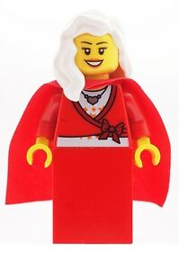 LEGO-Mrs-Christmas-Female-Minifig-NEW-Santa-039-s-Helper-Mrs-Claus