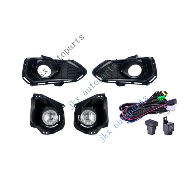 Clear Bumper Bezel Fog Lamp Light Wiring U0026swit Kit For
