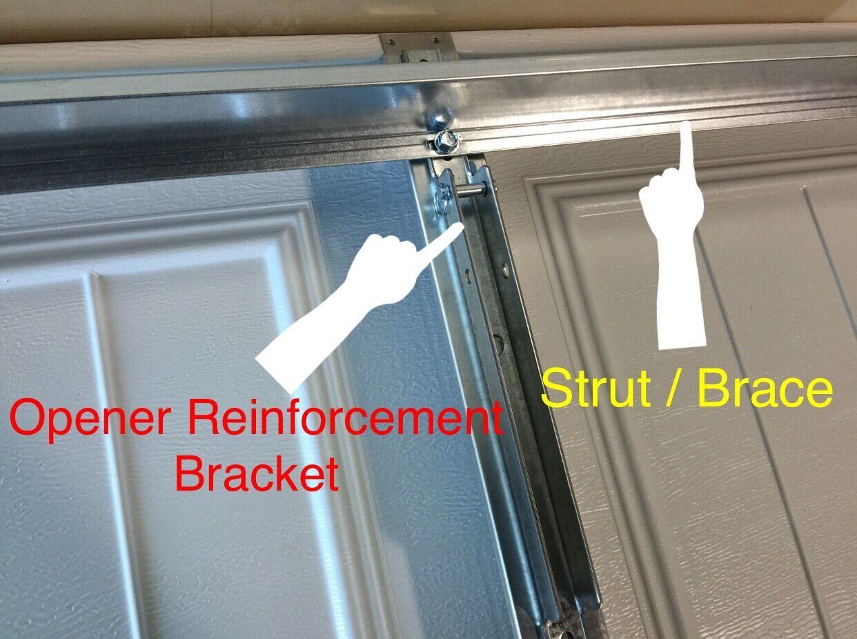 Horizontal Garage Door Reinforcement Support U Bar Strut Brace Kit 8 Wide Door