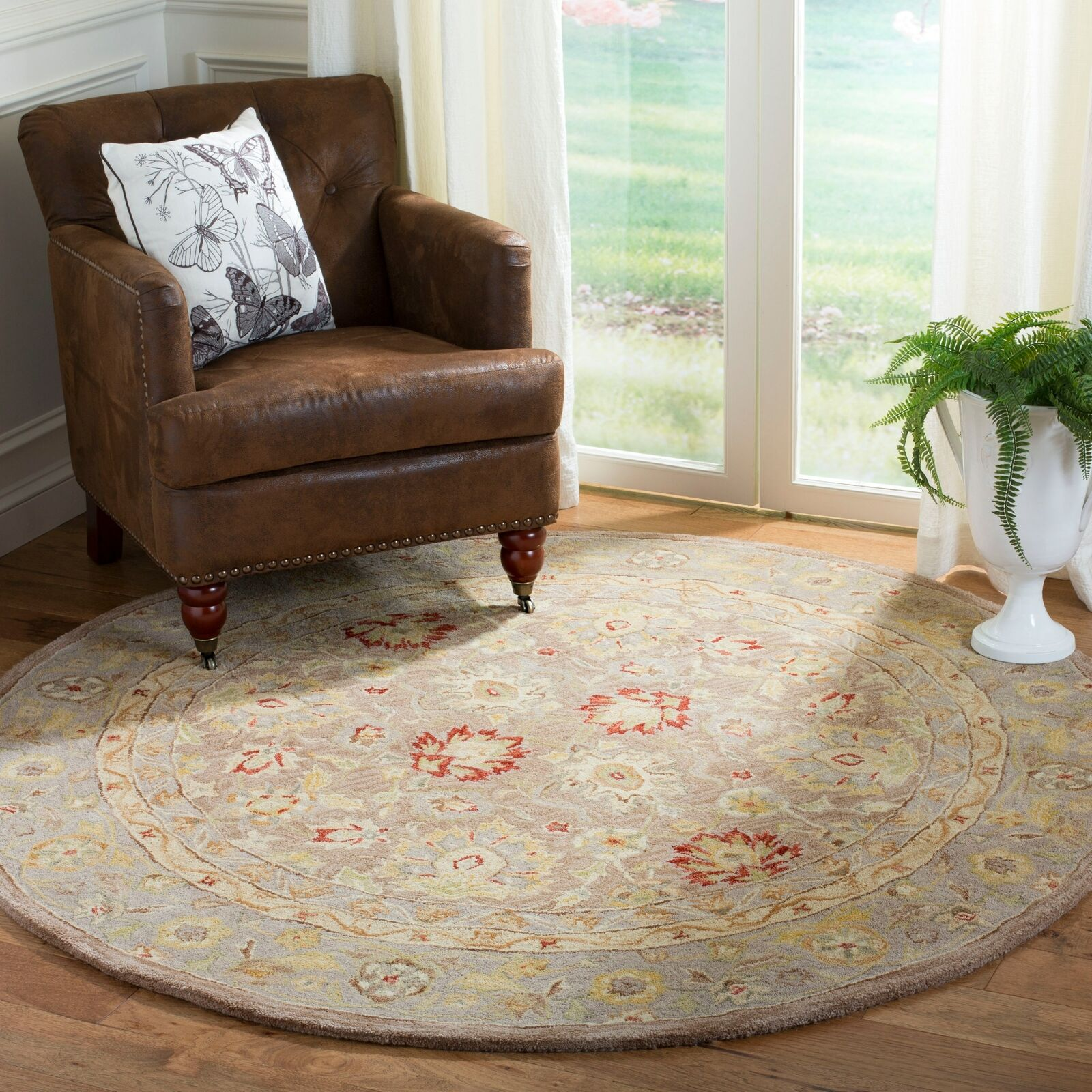 Safavieh Anatolia Collection An522b Handmade Traditional Oriental Tan And Ivory Wool Round Area Rug 6 Diameter For Sale Online Ebay
