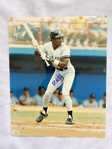 Roberto Kelly, NY Yankees, Autographed 8x10 Color Photograph